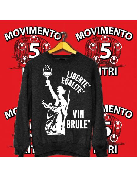 Felpa Libertè Egalitè Vinbrulè - UNISEX
